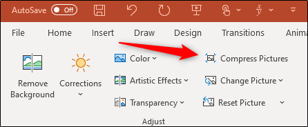 Compress pictures in adjust group