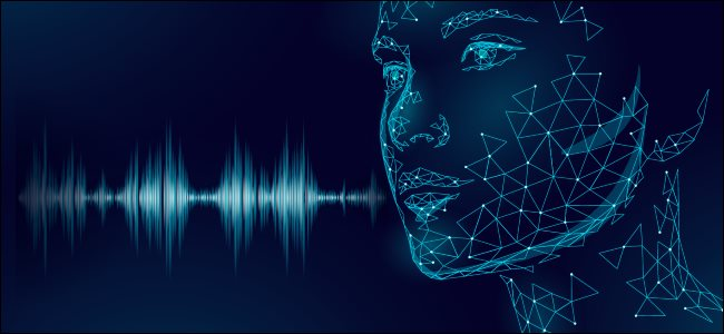 An AI face with created from sound waves.