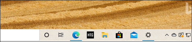 An Edge pinned site taskbar icon for How-To Geek on Windows 10.