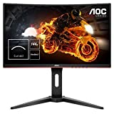 "Image of AOC C24G1 24"" Curved VA LED FHD (1920x1080) FreeSync 144Hz, 1ms response time, Height Adjustable Gaming Monitor. (VGA, HDMI X 2, Displayport) - Black"