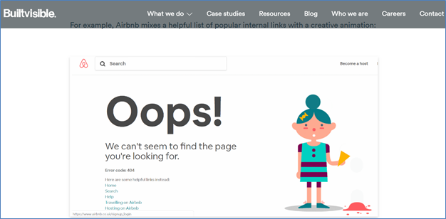 Creating interactive 404s - Add links
