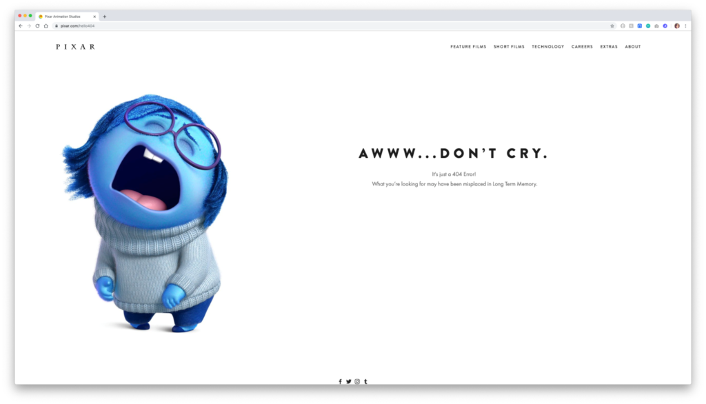 Creating interactive 404s - Brand and customize
