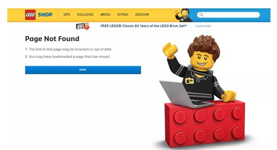 Creating interactive 404s - Homepage tab