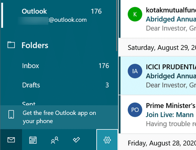 Get the free Outlook app on your phone2