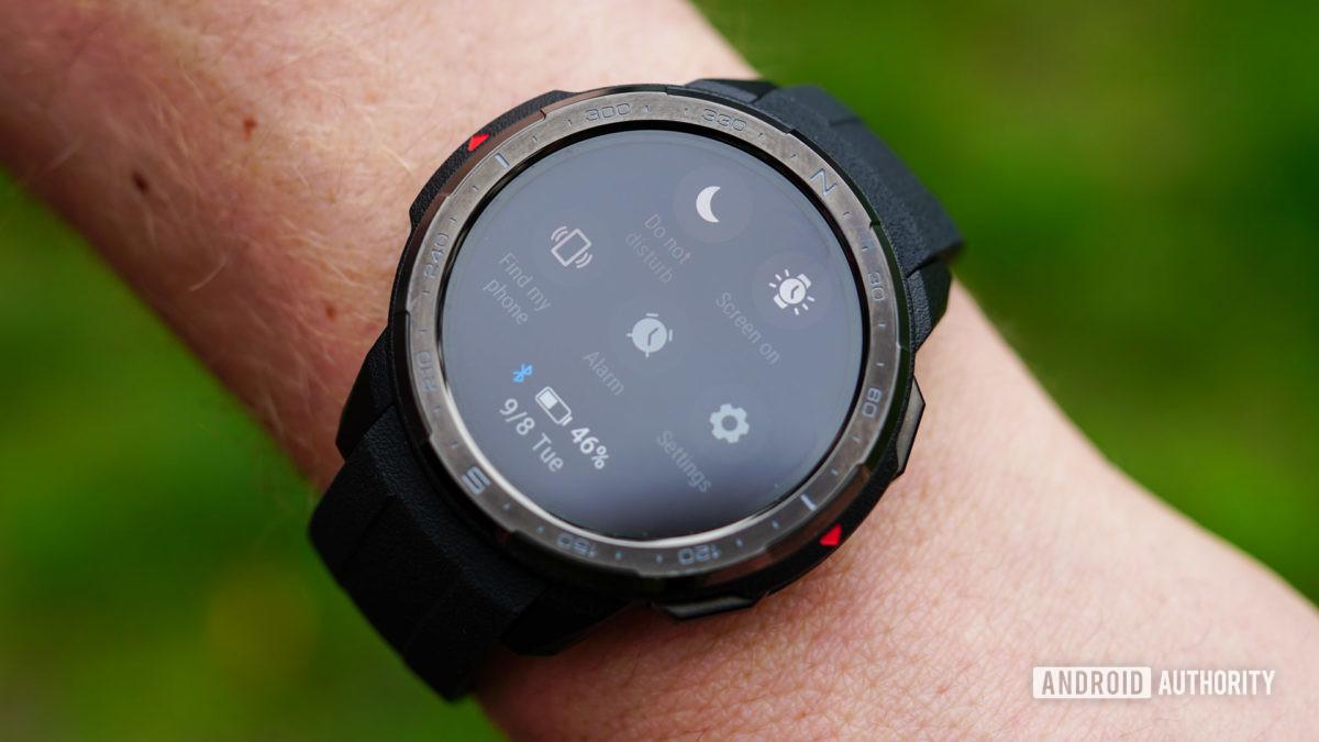 Honor Watch GS Pro快速設置屏幕