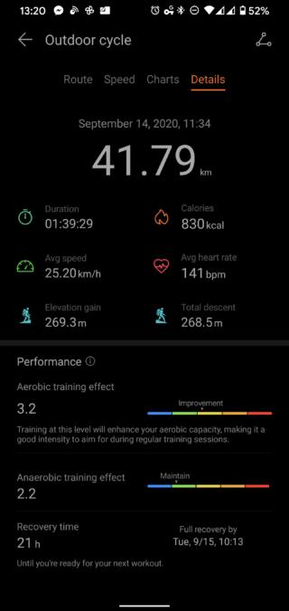 華為Health App騎行統計