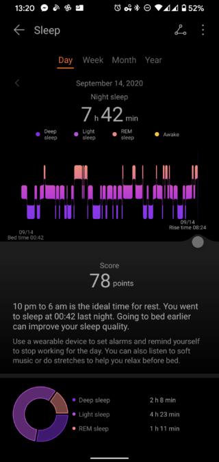 華為健康應用睡眠追踪