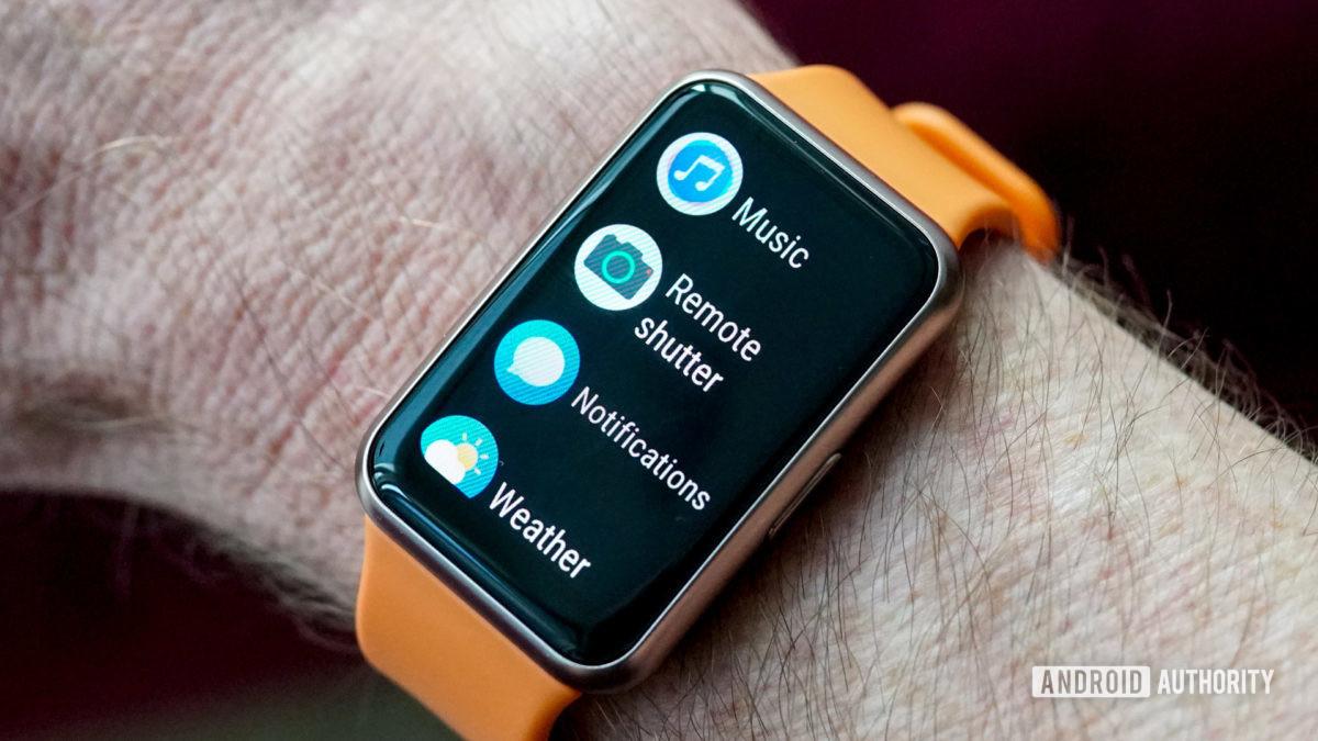 Huawei Watch Fit settings menu remote shutter