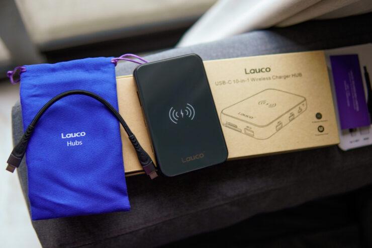 Lauco USB-C 10 in 1 Wireless Charging Hub
