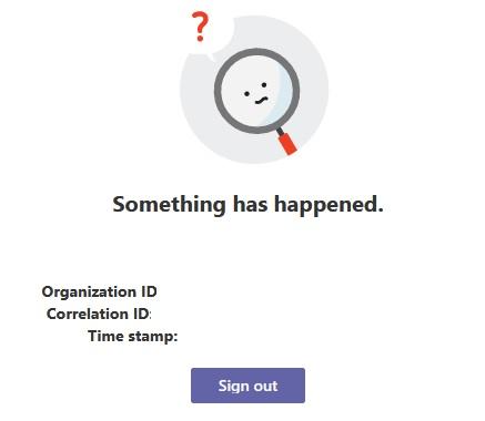 Microsoft Teams ECS error