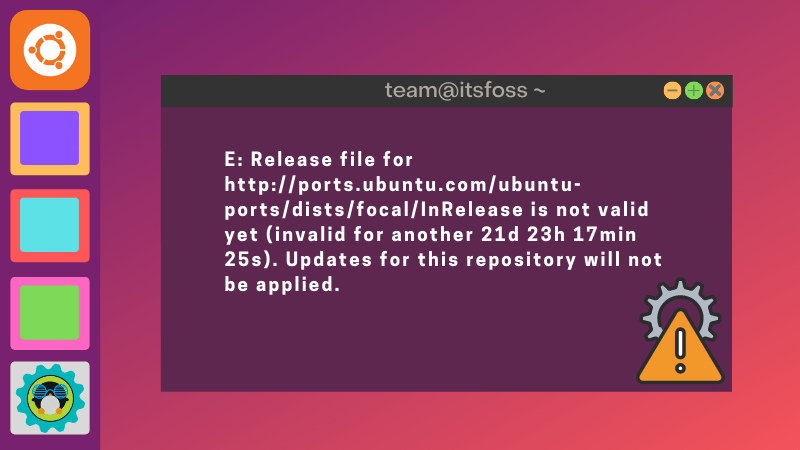 Repository Not Valid Yet Error Ubuntu