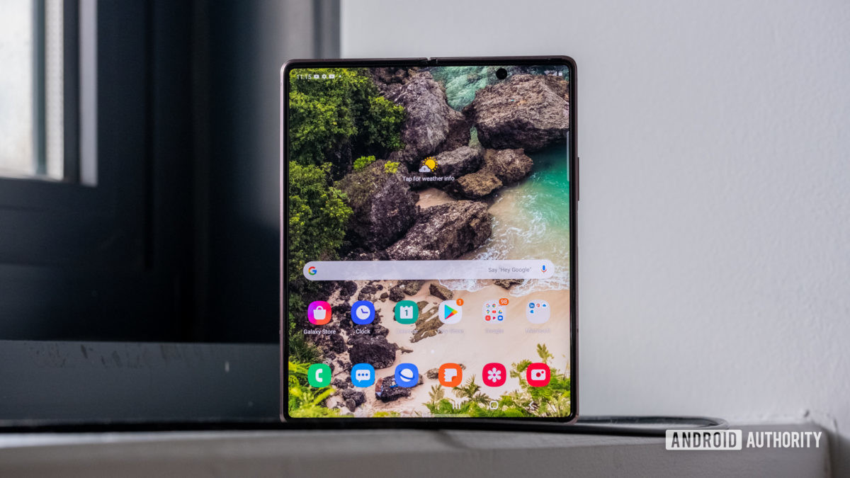 Samsung Galaxy Z Fold 2 front display open 3