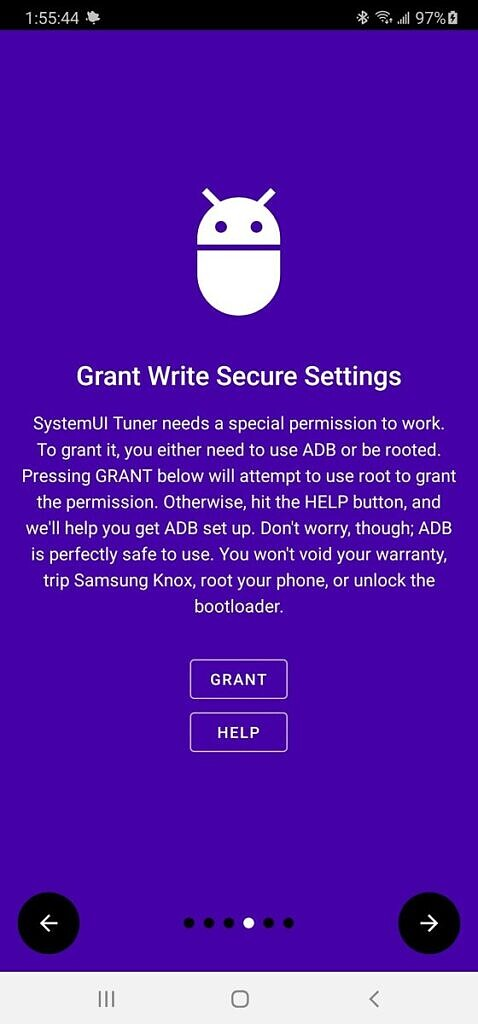 Grant Write Secure Settings permission on rooted Samsung Galaxy Note 20 Ultra