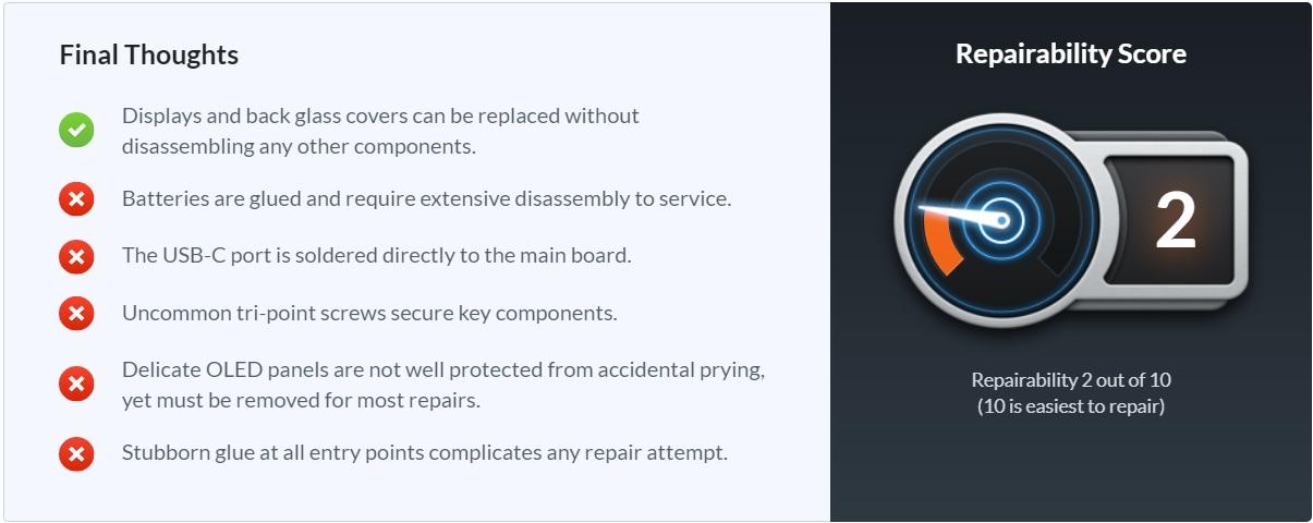 Surface Duo repair test