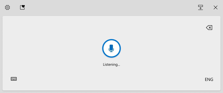Windows 10 voice typing