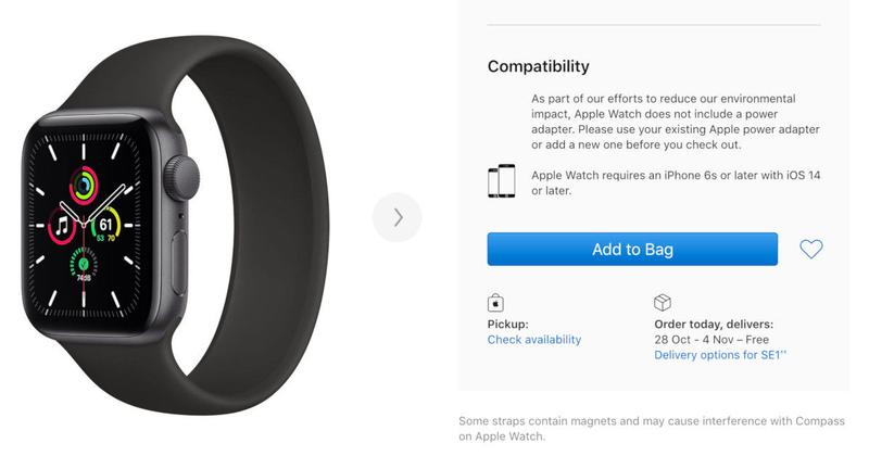 Apple Watch SE models are sold out