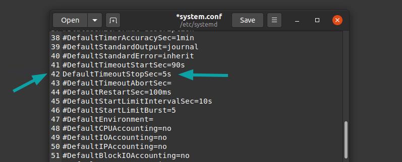 Change Shutdown Time Settings Ubuntu