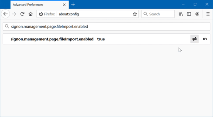 import passwords to Firefox from a CSV file pic3