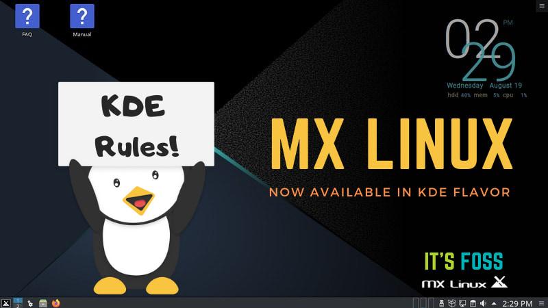 MX Linux KDE Edition