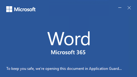 office untrusted document application guard