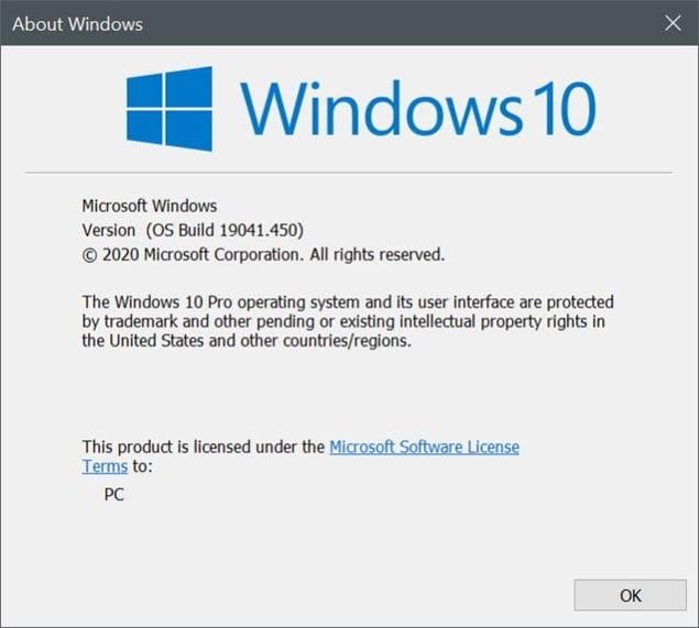 this build of Windows will expire soon Windows 10
