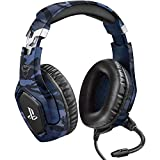 Image of Trust Gaming GXT 488 Forze-B [ Officially Licensed for PS4 ] Gaming Headset for Playstation 4 with Flexible Microphone and Inline Remote Control - Blue