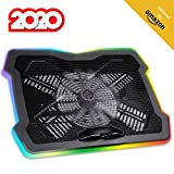 """Image of KLIM™ Ultimate + Laptop Cooling Stand with RGB backlighting + 11"""" - 17"""" + Gaming Laptop Cooling Pad For Desk + New 2020 + USB Powered Fan + Very Stable And Silent + Compatible Mac And PS4"""