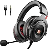 Image of EKSA 7.1 Surround Sound USB Gaming Headset Xbox One Headset with Noise Cancelling Mic, LED Light, Headphones for PS4/Xbox One/PC/Switch with Detachable Mic& 3.5mm, USB Cables