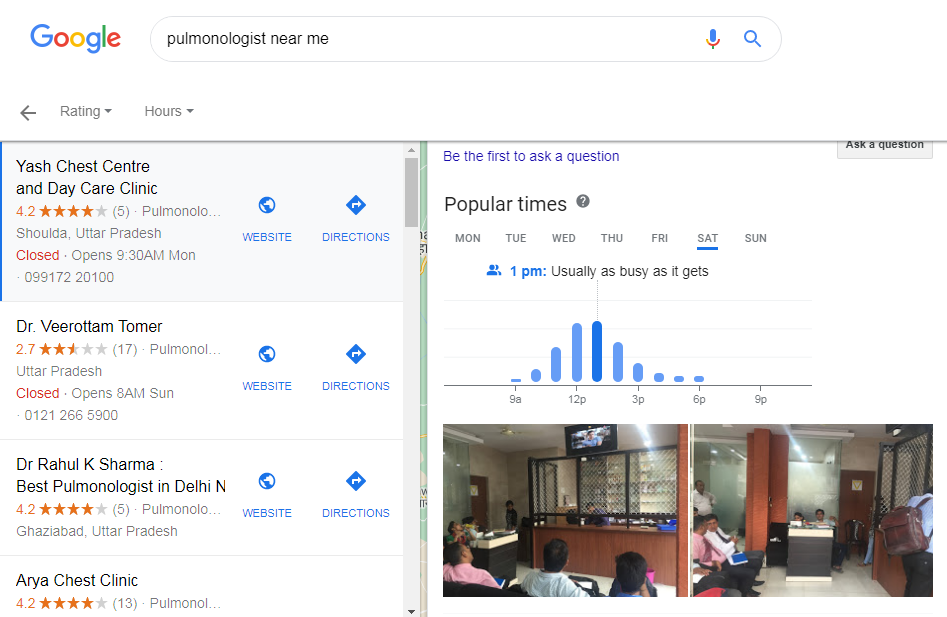 Feature to Maintain Social Distancing google search update