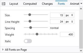 How to identify fonts on any webpage using Firefox developer tools - Fonts tab