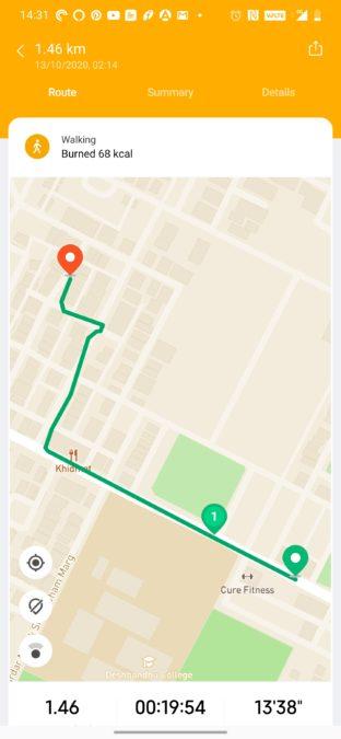 Mi Watch Revolve GPS tracking