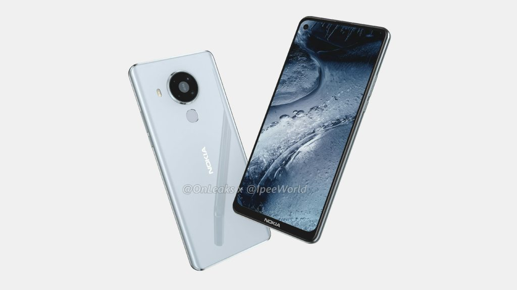 Nokia 7.3 back and front render leaked image
