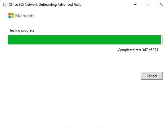 Running the connectivity test program