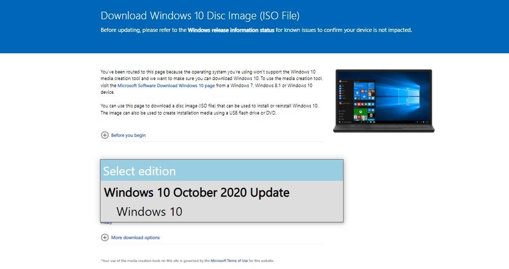 October 2020 Update ISO