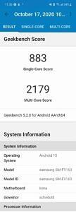 Snapdragon 865+ Geekbench scores