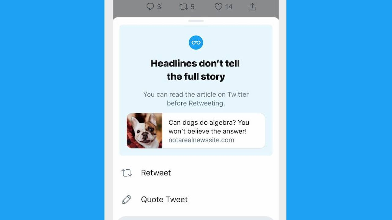 Twitter on iOS will now prompt users to read articles before they share them