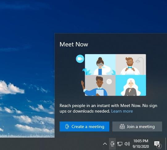 Windows Meet Now