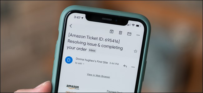 Amazon failed payment phishing attempt spam email