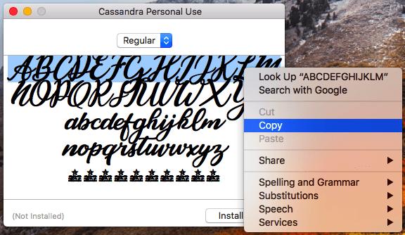 複製特殊字體將其粘貼到instagram