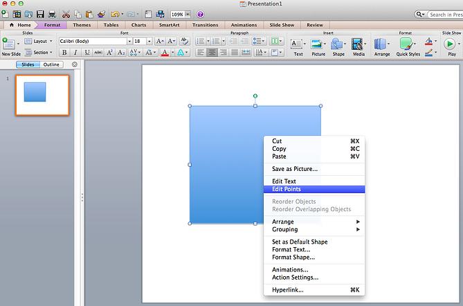 edit points in custom shape in powerpoint