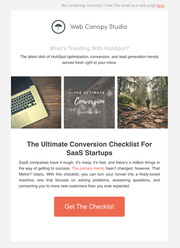 Sonat door HubSpot Marketing Email
