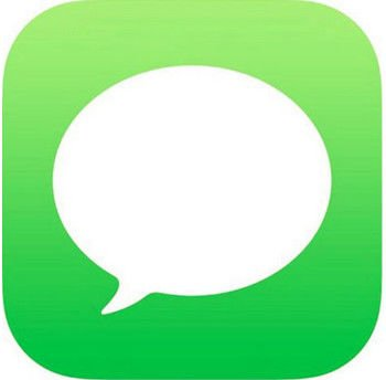 How to send a text on an iPhone: Messages icon