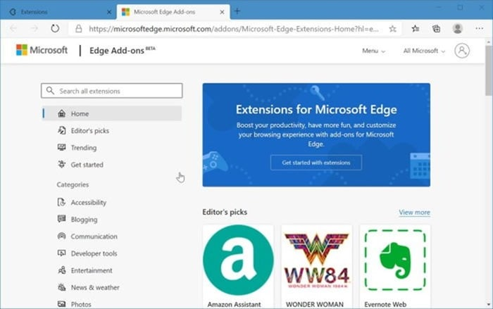 install and uninstall themes in Microsoft Edge in Windows 10 pic3