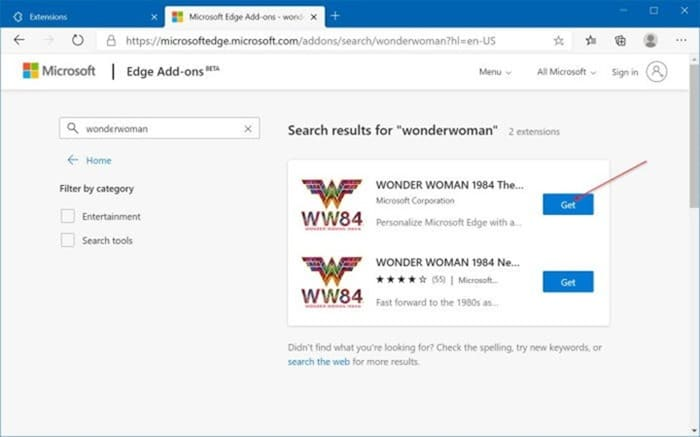 install and uninstall themes in Microsoft Edge in Windows 10 pic5