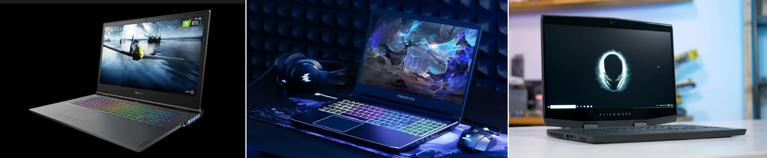 The potential sweet-spots: Lenovo legion Y740, Acer Predator Helios 300 and the Alienware m15