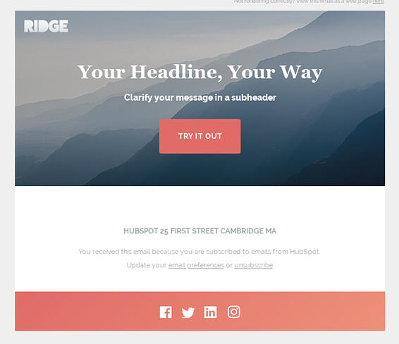ridge hubspot e-mailnieuwsbriefsjabloon