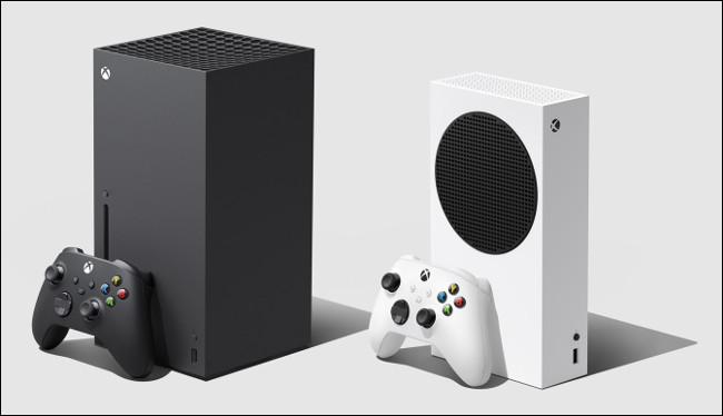 An Xbox Series X sitting next to an S.