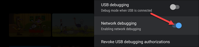 toggle network debugging
