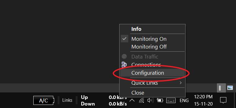 NetSpeedMonitor not working Windows 10