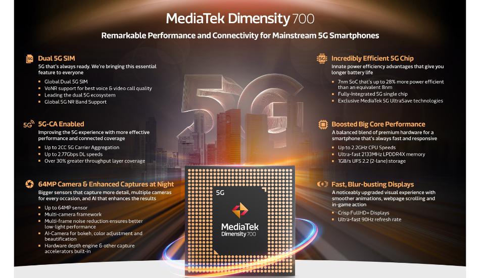 MediaTek Dimensity 700 specs